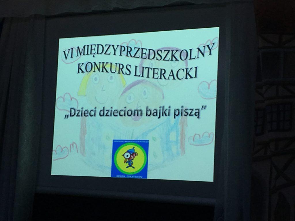 """,,Dzieci dzieciom bajki piszą"""" VI MIĘDZYPRZEDSZKOLNY KONKURS LITERACKI"""