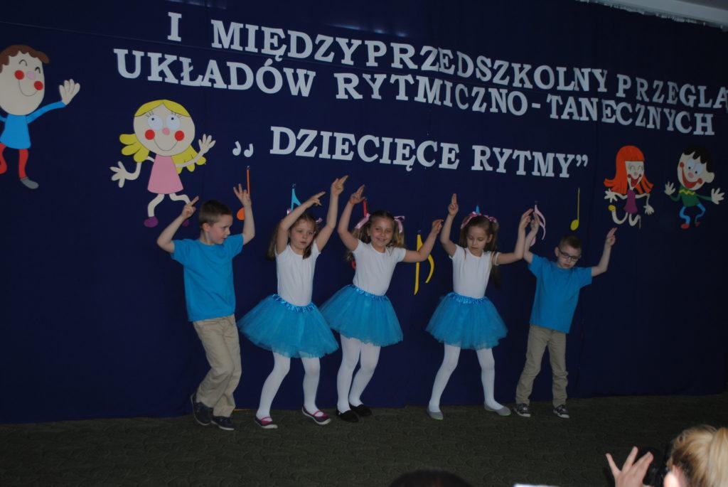 """I Międzyprzedszkolny przegląd układów rytmiczno- tanecznych """"Dziecięce rytmy"""""""